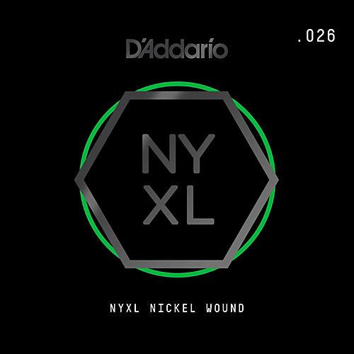 D'Addario NYNW026 NYXL Nickel Wound Electric Guitar Single String, .026