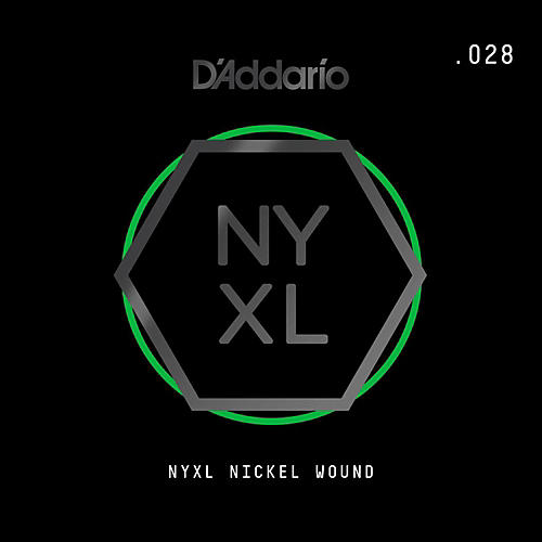 D'Addario NYNW028 NYXL Nickel Wound Electric Guitar Single String, .028-thumbnail
