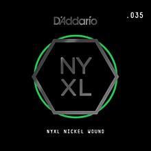 D'Addario NYNW035 NYXL Nickel Wound Electric Guitar Single String, .035