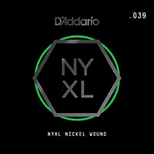 D'Addario NYNW039 NYXL Nickel Wound Electric Guitar Single String, .039