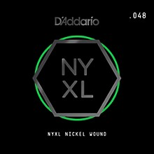 D'Addario NYNW048 NYXL Nickel Wound Electric Guitar Single String, .048