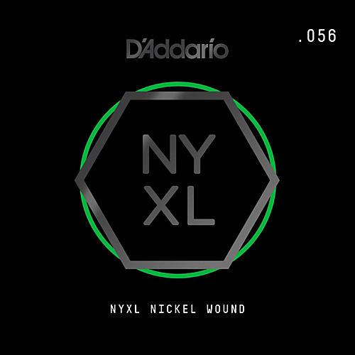 D'Addario NYNW056 NYXL Nickel Wound Electric Guitar Single String, .056