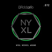 D'Addario NYNW072 NYXL Nickel Wound Electric Guitar Single String, .072