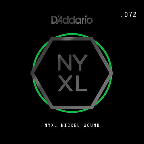 D'Addario NYNW072 NYXL Nickel Wound Electric Guitar Single String, .072-thumbnail
