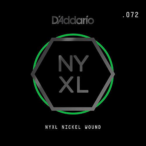 D'Addario NYNW072 NYXL Nickel Wound Electric Guitar Single String, .072