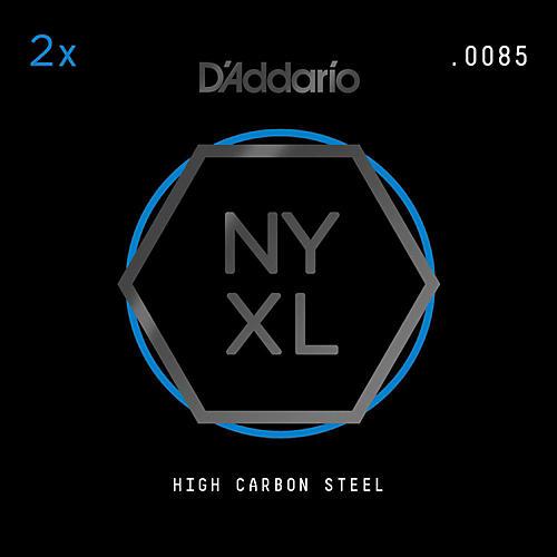 D'Addario NYPL0085 Plain Steel Guitar Strings 2-Pack, .0085