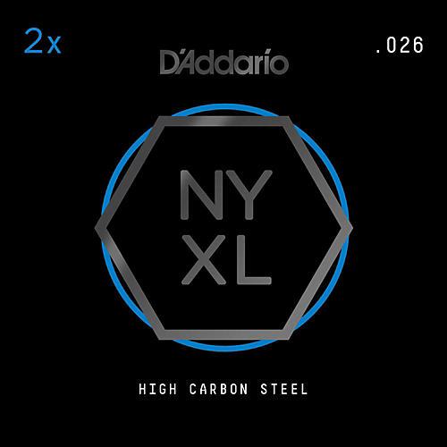 D'Addario NYPL026 Plain Steel Guitar Strings 2-Pack, .026