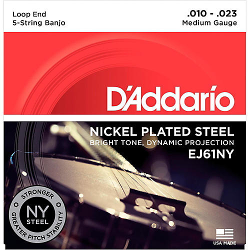 D'Addario NYXL Medium Banjo Strings (10-23)-thumbnail
