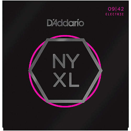 D'Addario NYXL Nickel Wound Super Light Electric Guitar Strings (9-42)