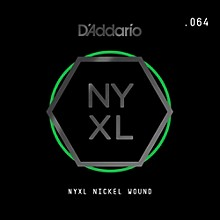 D'Addario NYXL Single Wound 064 Electric Guitar Strings