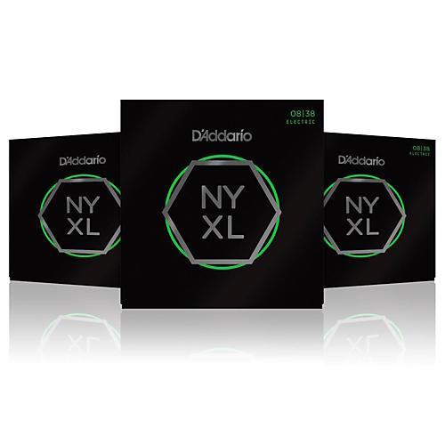D'Addario NYXL0838 Extra Super Light 3-Pack Electric ...