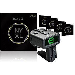 d 39 addario nyxl0946 electric guitar strings 5 pack with free ns micro headstock tuner musician. Black Bedroom Furniture Sets. Home Design Ideas