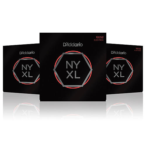 Addario NYXL1052 Light Top/Heavy Bottom 3-Pack Electric Guitar ...