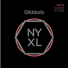 Open Box D'Addario NYXL1074 8-String Light Top/Heavy Bottom Nickel Wound Electric Guitar Strings (10-74)