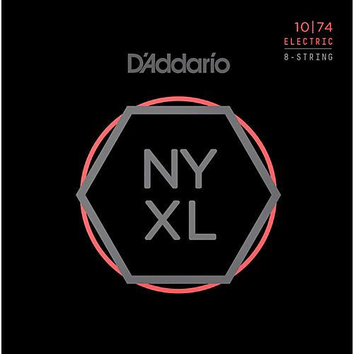 D'Addario NYXL1074 8-String Light Top/Heavy Bottom Nickel Wound Electric Guitar Strings (10-74)-thumbnail