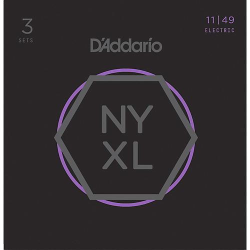 D'Addario NYXL1149 Medium 3-Pack Electric Guitar Strings-thumbnail