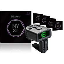 D'Addario NYXL1149 Medium Electric Guitar Strings 5-Pack with FREE NS Micro Headstock Tuner