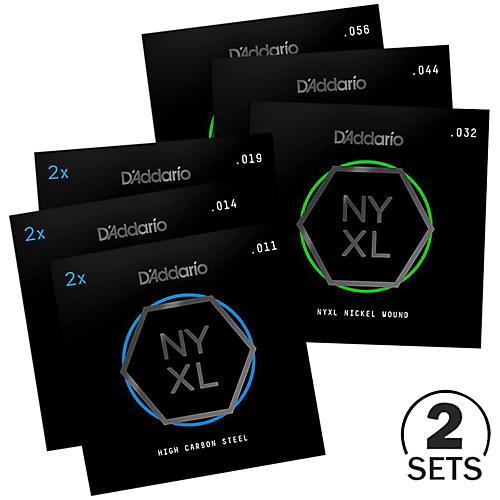 D'Addario NYXL1156 Medium Top/Extra Heavy Bottom Electric Guitar Strings Custom 2-Pack (11-56)-thumbnail