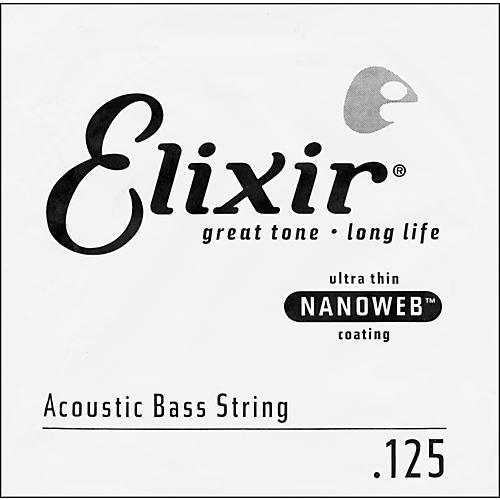 Elixir Nanoweb .125 Single Acoustic Bass String-thumbnail