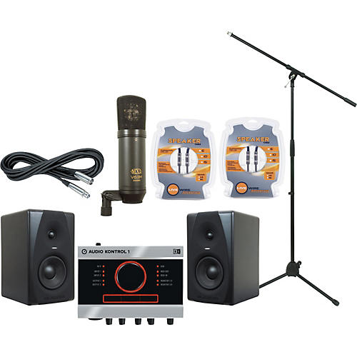 M-Audio Native Instruments Audio Kontrol 1 and M-Audio CX5 Recording Package-thumbnail