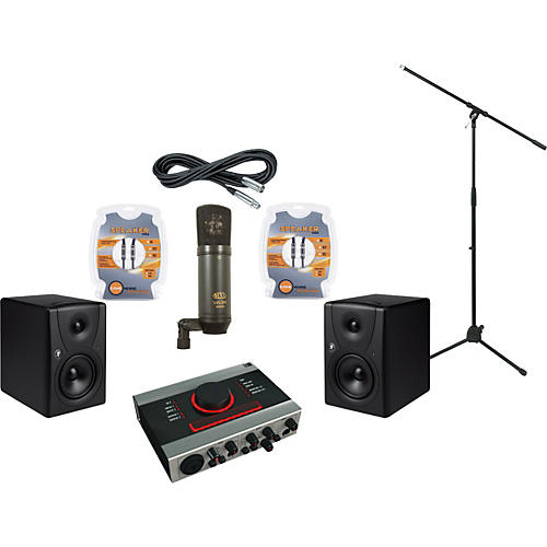 Mackie Native Instruments Audio Kontrol 1 and Mackie MR5 Recording Package-thumbnail