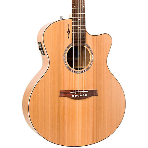 Seagull Natural Cherry CW Mini Jumbo SG Acoustic-Electric Guitar Natural