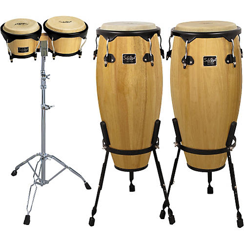Schalloch Natural Conga/Bongo Set with Stands