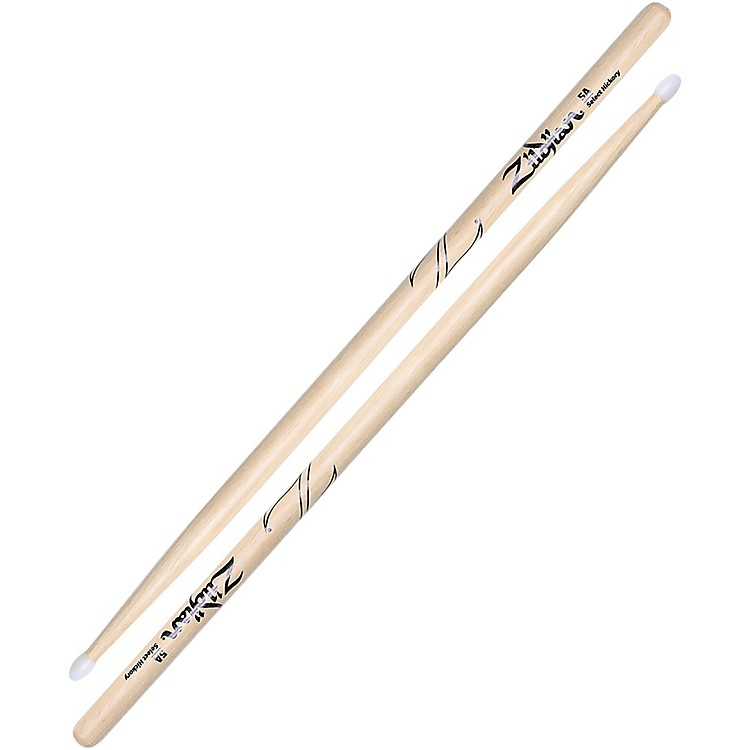 Zildjian Natural Hickory Drumsticks 5A Nylon