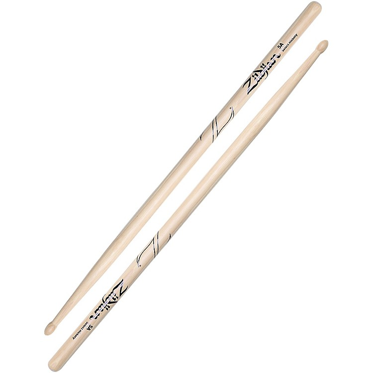 Zildjian Natural Hickory Drumsticks Super 7A Nylon