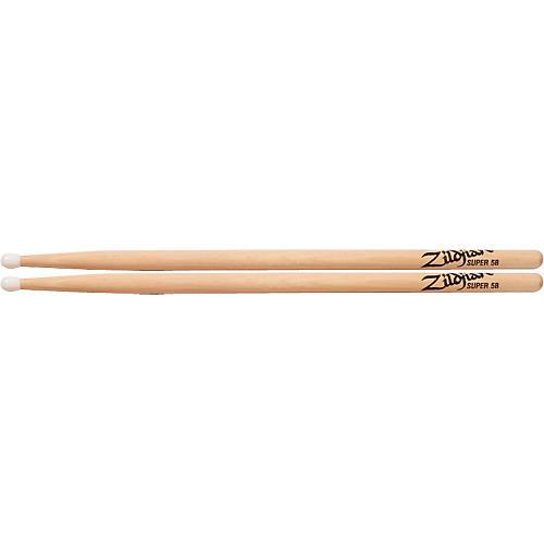 Zildjian Natural Hickory Drumsticks Super 5B Nylon