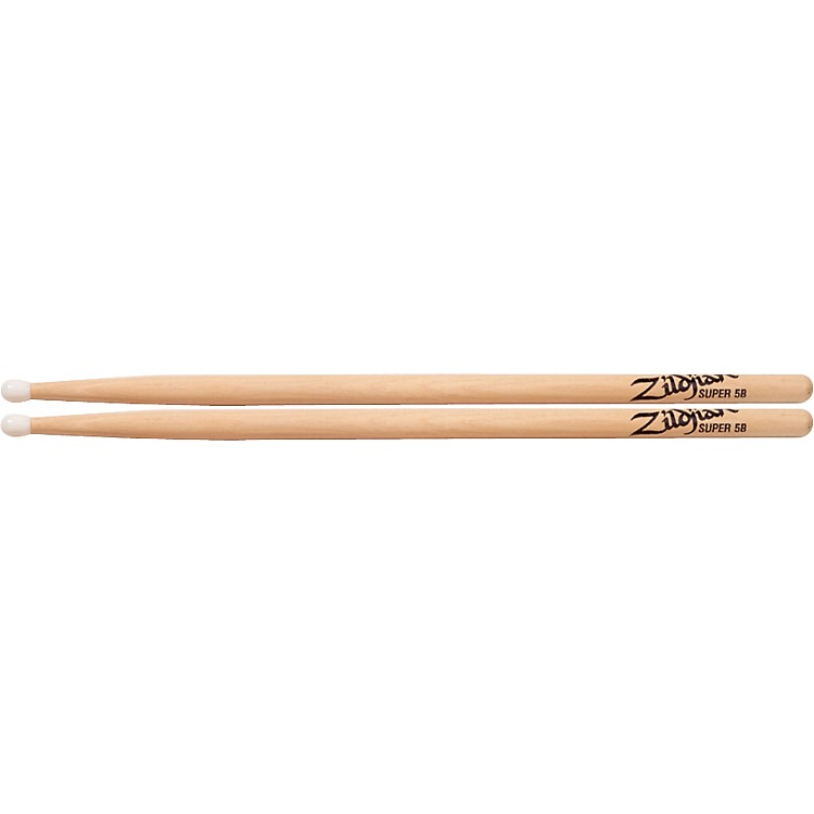 Zildjian Natural Hickory Drumsticks Super 5B Nylon