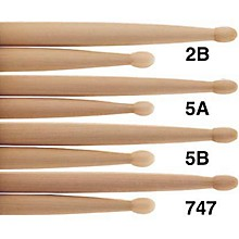 PROMARK Natural Hickory Drumsticks Wood 2B