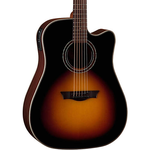 Dean Natural Series Dreadnought Cutaway Acoustic-Electric Guitar-thumbnail