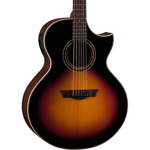 Dean Natural Series Dreadnought Florentine Acoustic-Electric Guitar Tobacco Sunburst