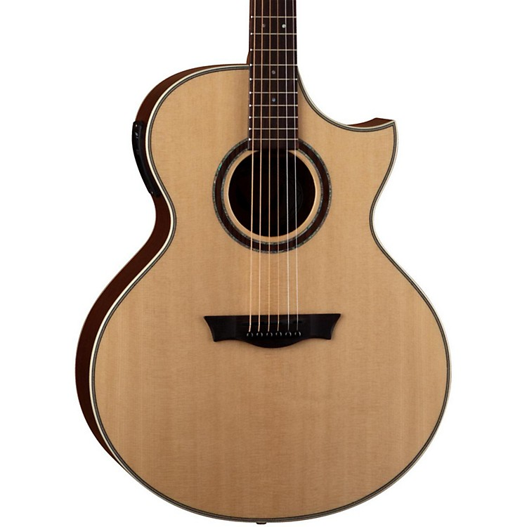 Dean Natural Series Florentine Cutaway Acoustic-Electric Guitar with Aphex Gloss Natural