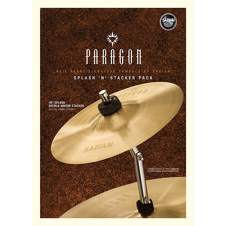 Sabian Neil Peart Paragon Splash 'n' Stacker Cymbal Pack Brilliant
