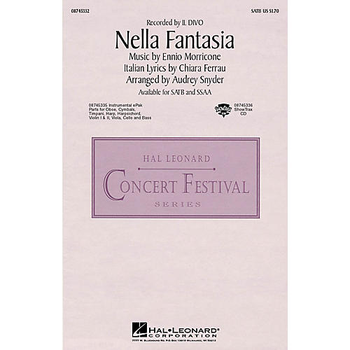 Hal Leonard Nella Fantasia (In My Fantasy) SATB by Il Divo arranged by Audrey Snyder-thumbnail