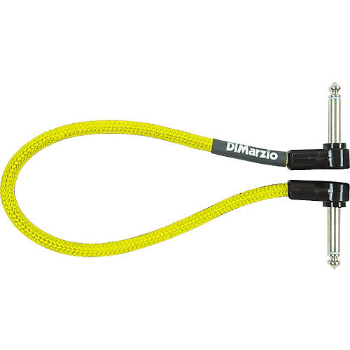 DiMarzio Neon Overbraid Jumper Cable Pedal Coupler Yellow 12 in.