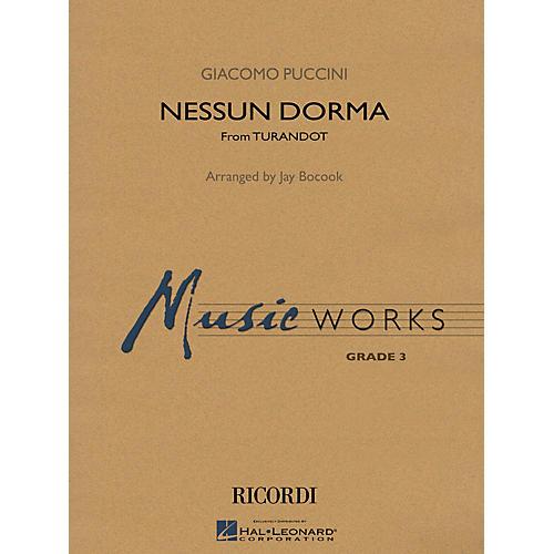 Hal Leonard Nessun Dorma (No One Sleeps) (from Turandot) Concert Band Level 3 Arranged by Jay Bocook-thumbnail
