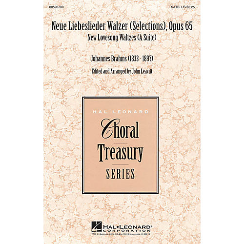 Hal Leonard Neue Liebeslieder Walzer (Selections), Opus 65 (New Lovesong Walzes (A Suite)) SATB arranged by John Leavitt-thumbnail