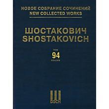 DSCH New Collected Works of Dmitri Shostakovich - Volume 94 DSCH Series Hardcover by Dmitri Shostakovich