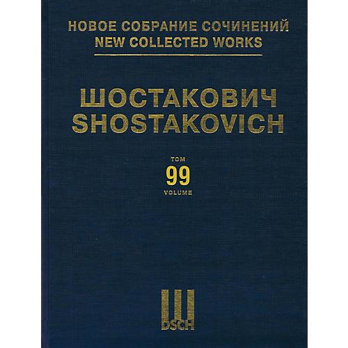 DSCH New Collected Works of Dmitri Shostakovich - Volume 99 DSCH Series Hardcover by Dmitri Shostakovich-thumbnail