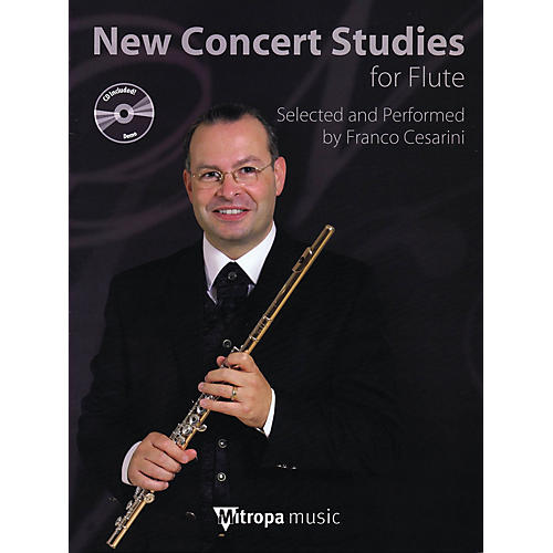 Mitropa Music New Concert Studies for Flute Mitropa Play-Along Book Series Arranged by Franco Cesarini-thumbnail