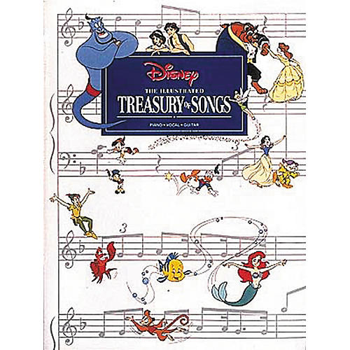 Hal Leonard New Illustrated Treasury of Disney Songs Piano, Vocal, Guitar Songbook-thumbnail