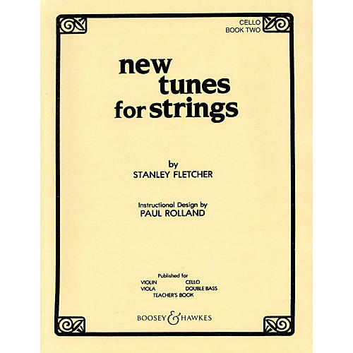 Boosey and Hawkes New Tunes for Strings - Book 2 (Cello) Boosey & Hawkes Chamber Music Series Softcover by Stanley Fletcher-thumbnail
