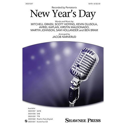Shawnee Press New Year's Day SATB by Pentatonix arranged by Jacob Narverud