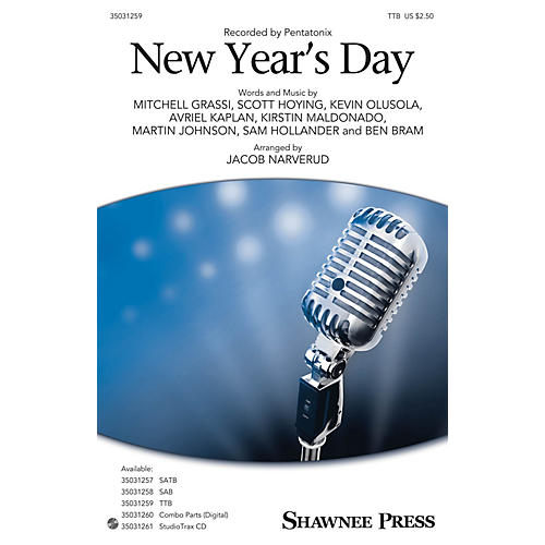 Shawnee Press New Year's Day TTB by Pentatonix arranged by Jacob Narverud
