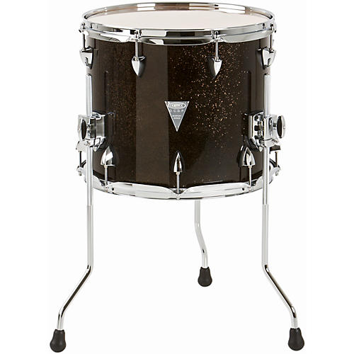 Orange County Drum & Percussion Newport Floor Tom Black Gold Glitter 14 X 12