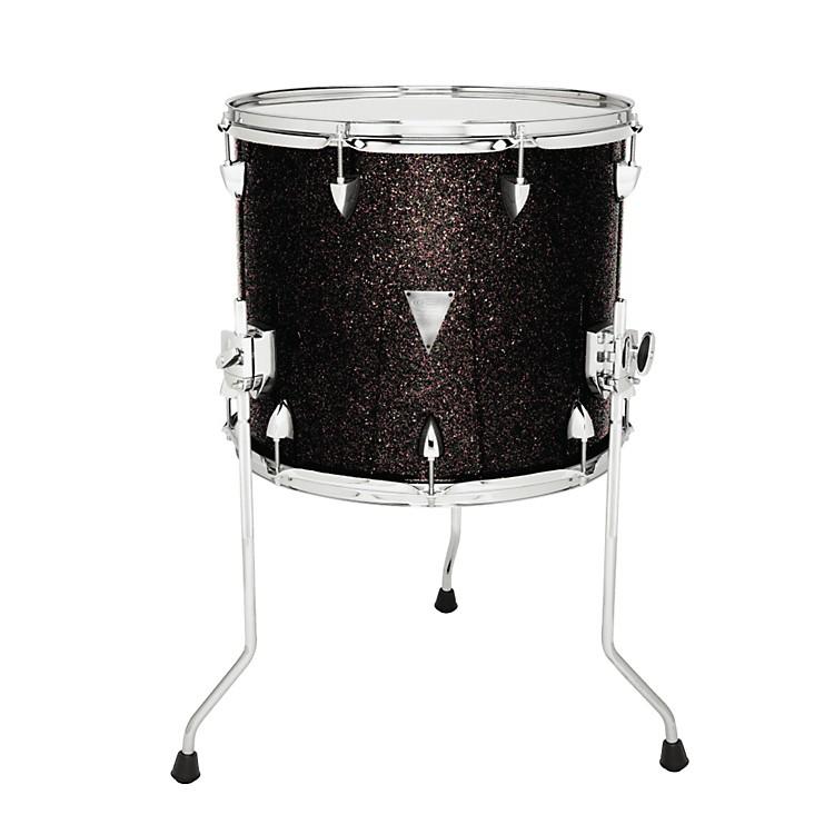 Orange County Drum & PercussionNewport Floor TomBlack Gold Glitter18 X 16