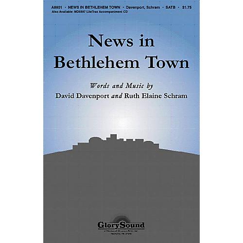 Shawnee Press News in Bethlehem Town SATB composed by David Davenport-thumbnail